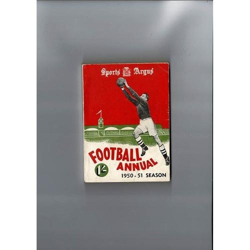 1950/51 Sports Argus Football Annual