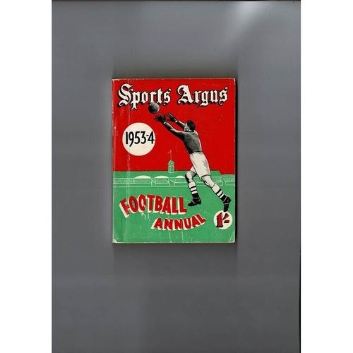 1953/54 Sports Argus Football Annual