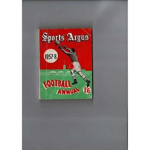 1957/58 Sports Argus Football Annual