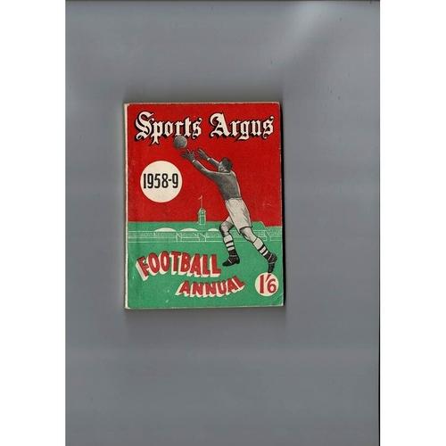 1958/59 Sports Argus Football Annual
