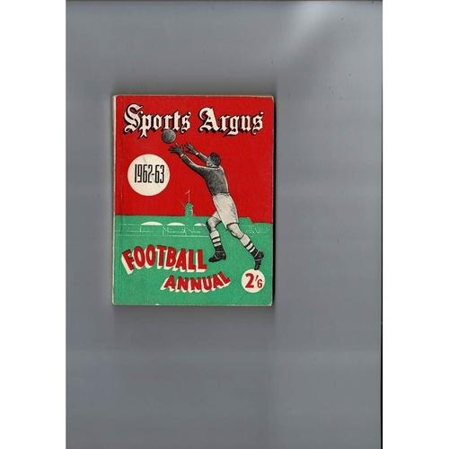 1962/63 Sports Argus Football Annual