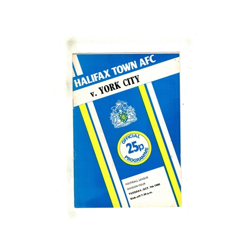 Halifax Town Home Football Programmes