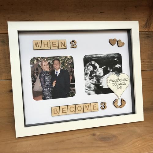 """When 2 become 3"" Photo frame"