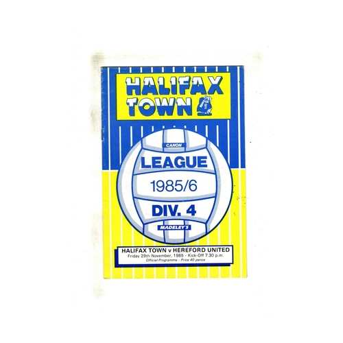 Hereford United Away Football Programmes