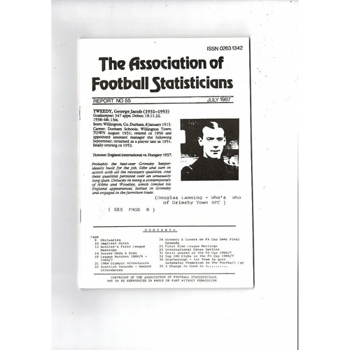 The Association of Football Statisticians Report No. 55