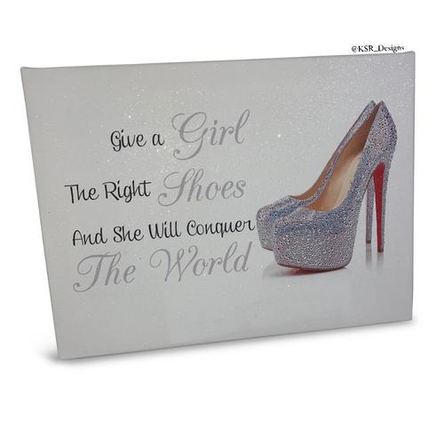 Glitter Canvas Shoe & Quote