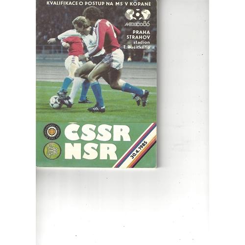 Czechoslovakia v West Germany Football Programme 1985