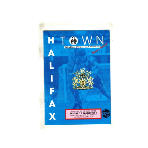 Hartlepool United Away Football Programmes