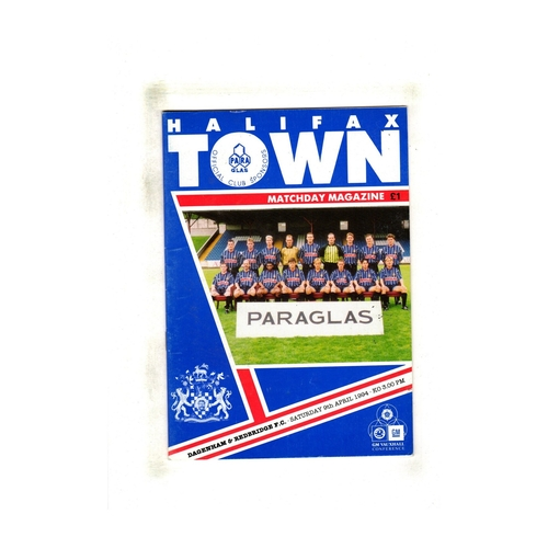 Dagenham Away Football Programmes