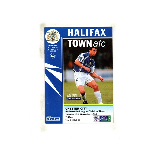 Chester City Away Football Programmes