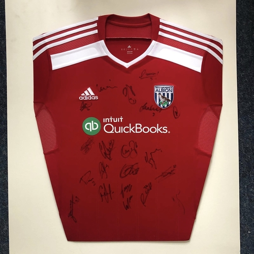 West Bromwich Albion Squad Signed Away Shirt 2014/15
