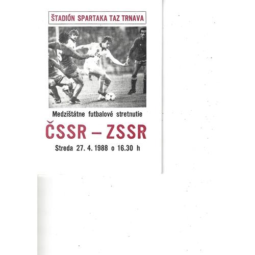 Czechoslovakia v Russia Football Programme 1988