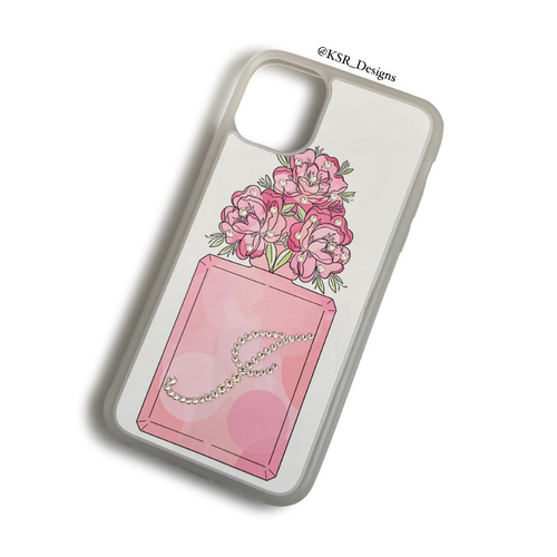 Perfume Bottle Case with floral top