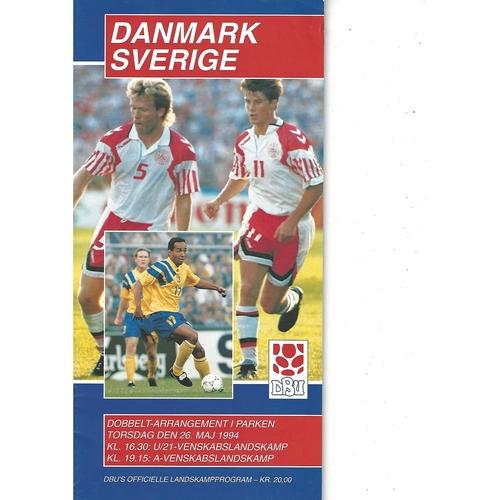 Denmark v Sweden Football Programme 1994
