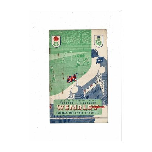 1949 England v Scotland Football Programme