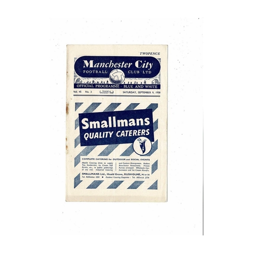 1950/51 Manchester City v Chesterfield Football Programme