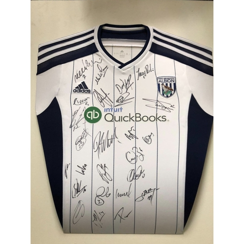 Multi Squad SIgned West Bromwich Albion home shirt