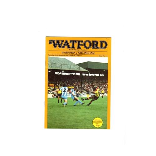 Watford Home Football Programmes