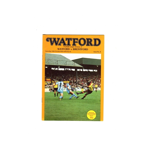 Watford Home Football Programmes