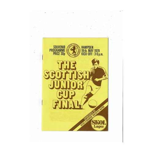 1979 Cumnock Juniors v Bo'ness United Scottish Junior Cup Final Football Programme
