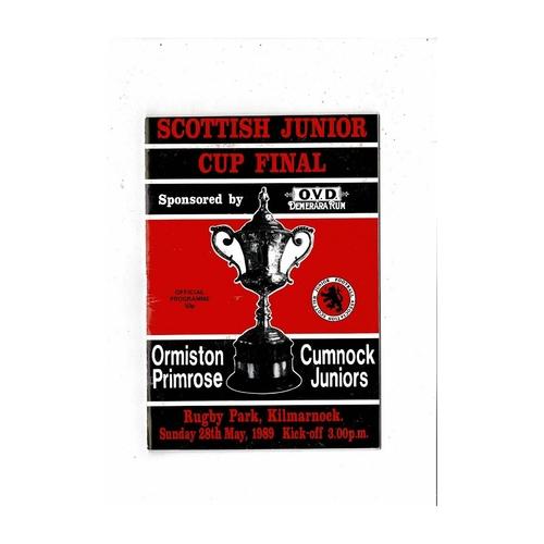Scottish Junior Cup Final Football Programmes
