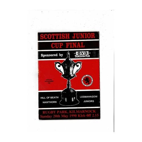 Scottish Junior Cup Final / Semi Final Football Programmes