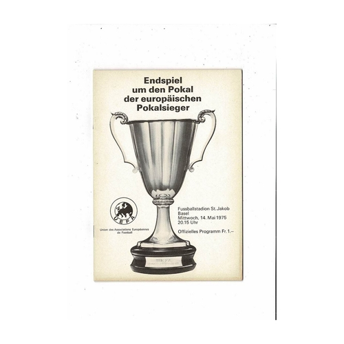 1975 Dynamo Kiev v Ferencvaros European Cup Winners Cup Final Football Programme