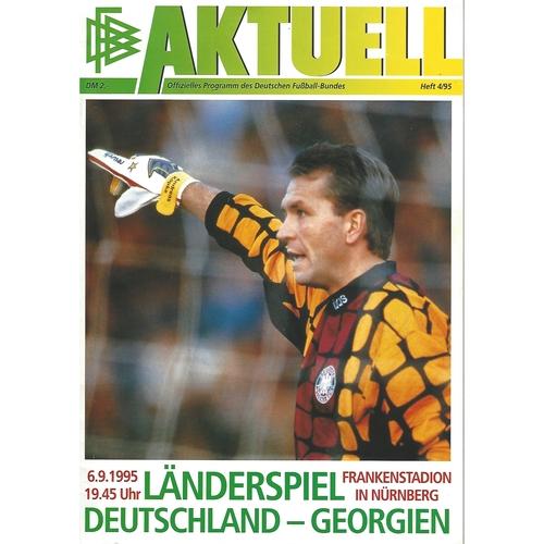 Germany v Georgia Football Programme 1995