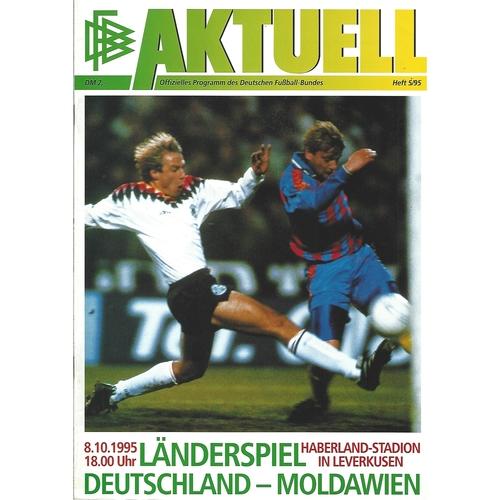 Germany v Moldova Football Programme 1995