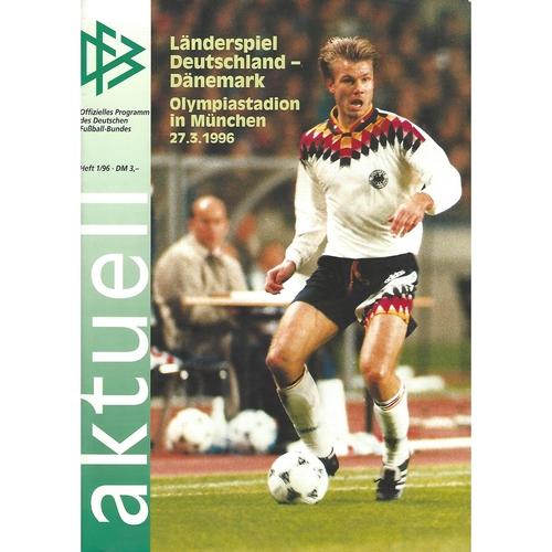 Germany v Denmark Football Programme 1996