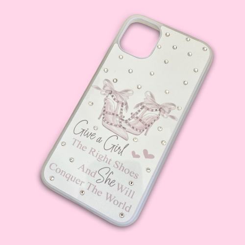 Give A Girl The Right Shoes Crystal Phone Case