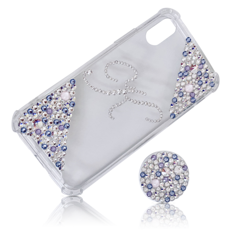 Swarovski Initial Phone Case Pastel Mix