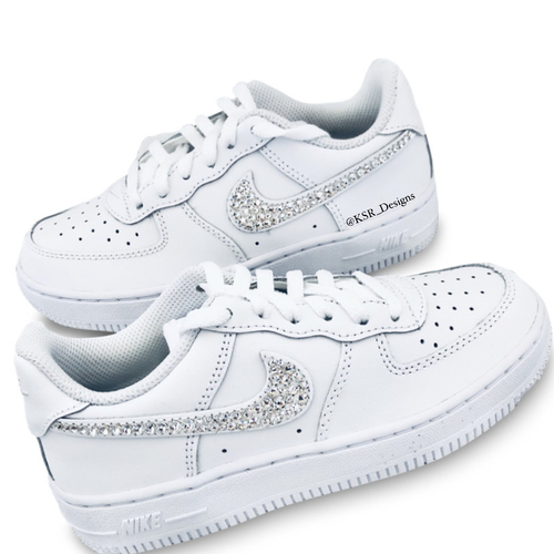 Custom Nike Air Force 1 with Crystals By Swarovski Childrens