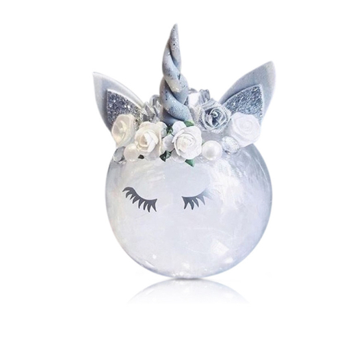 Unicorn Bauble Feather Filled Large