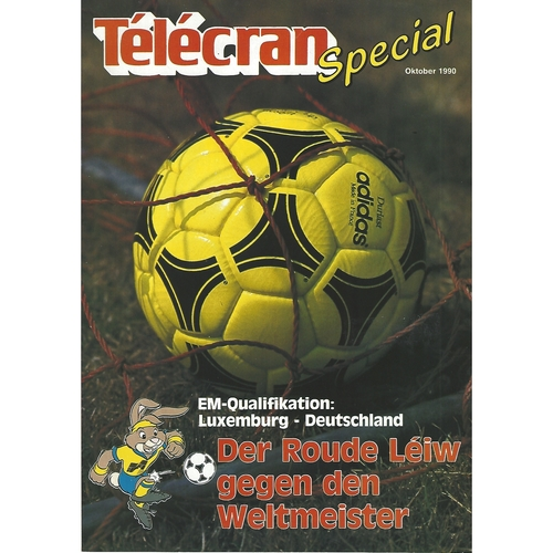 Luxembourg v Germany Football Programme 1990