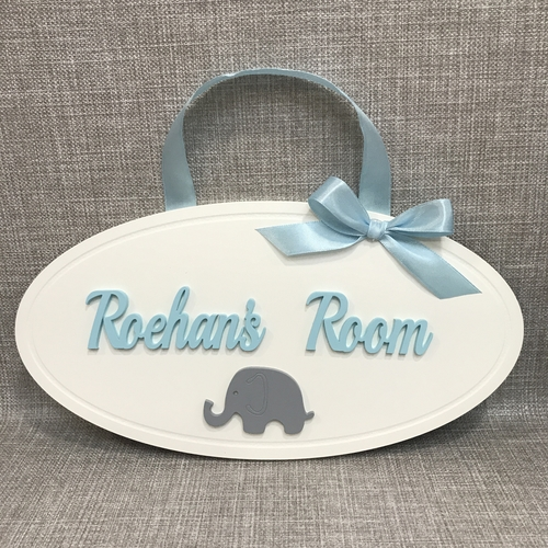Oval Elephant Door plaque