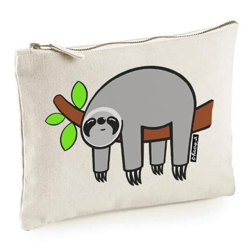 'Grey Sloth' Accessory Bag