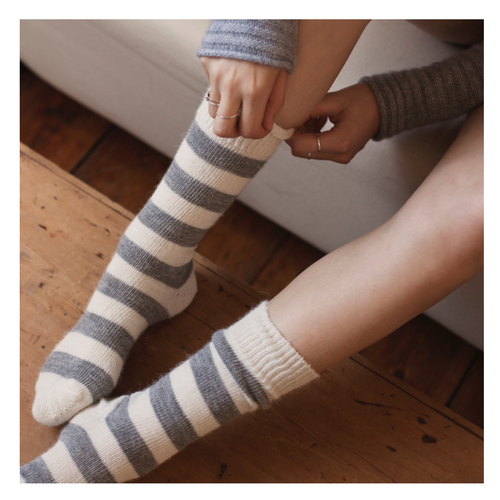 Alpaca Everyday Sock Light Stripe