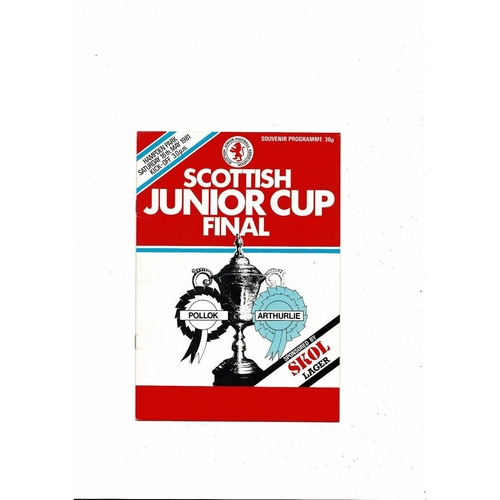 1981 Pollok v Arthurlie Scottish Junior Cup Final Football Programme