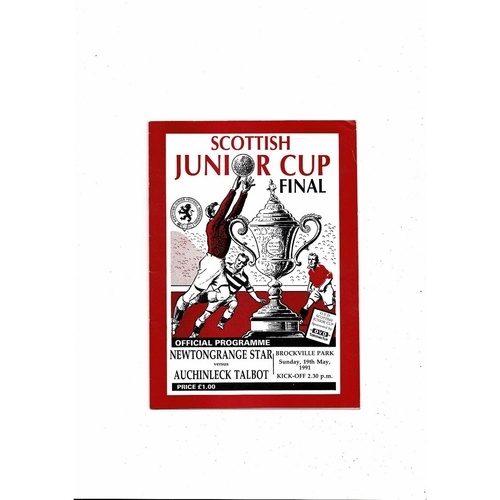 1991 Newtongrange v Auchinleck Scottish Junior Cup Final Football Programme