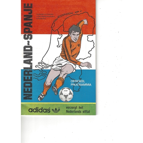 Holland v Spain Football Programme 1983