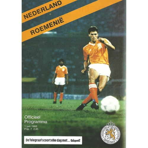 Holland v Romania Football Programme 1988