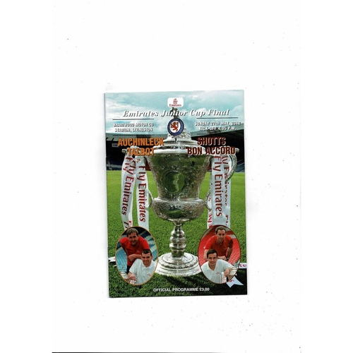 2012 Auchinleck Talbot v Shotts Bon Accord Scottish Junior Cup Final Programme