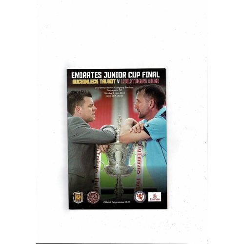 2013 Auchinleck Talbot v Linlithgow Rose Scottish Junior Cup Final Programme