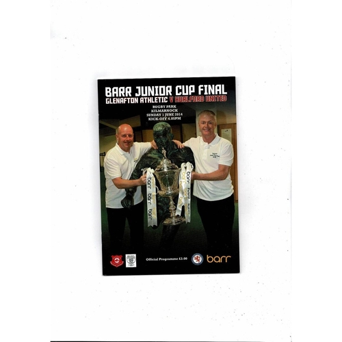 2014 Glenafton v Hurlford Scottish Junior Cup Final Football Programme
