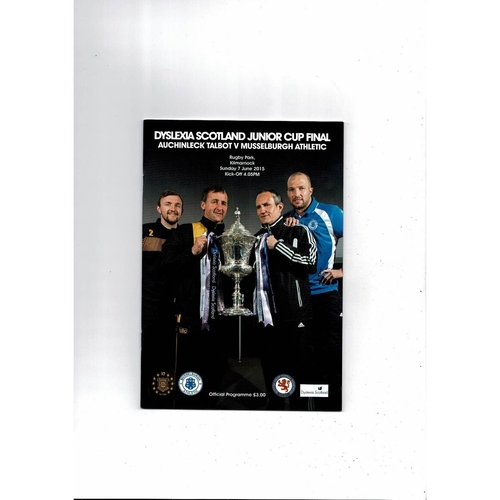 2015 Auchinleck v Musselburgh Scottish Junior Cup Final Football Programme