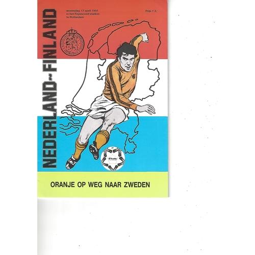 Holland v Finland Football Programme 1991