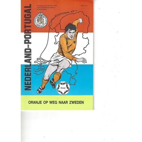 Holland v Portugal Football Programme 1991
