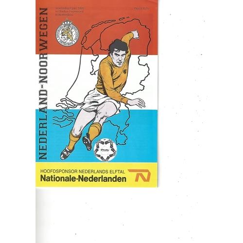 Holland v Norway Football Programme 1993