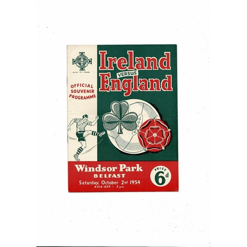 1954 Northern Ireland v England Football Programme